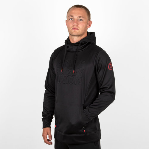 Army Rugby Union Embossed Impact Hooded Rugby Sweat