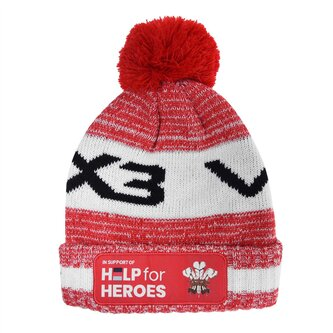 For Heroes Wales Bobble Hat