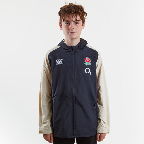 England 2018/19 Kids Full Zip All Weather Rugby Jacket