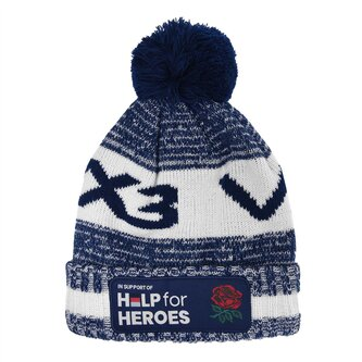 Help For Heroes England Bobble Hat Mens