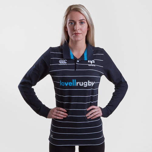 7551e7760d2 Canterbury Ospreys 2018/19 Ladies Home Classic L/S Rugby Shirt, £20.00