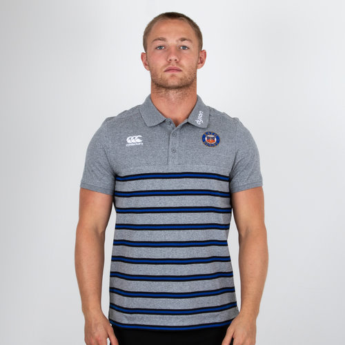 Bath 2018/19 Cotton Stripe Rugby Polo Shirt