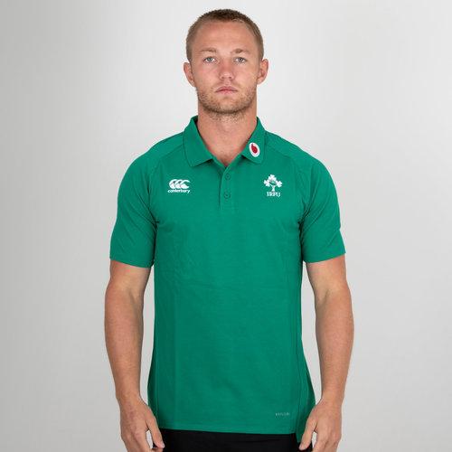 Ireland IRFU 2018/19 Performance Cotton Rugby Polo Shirt