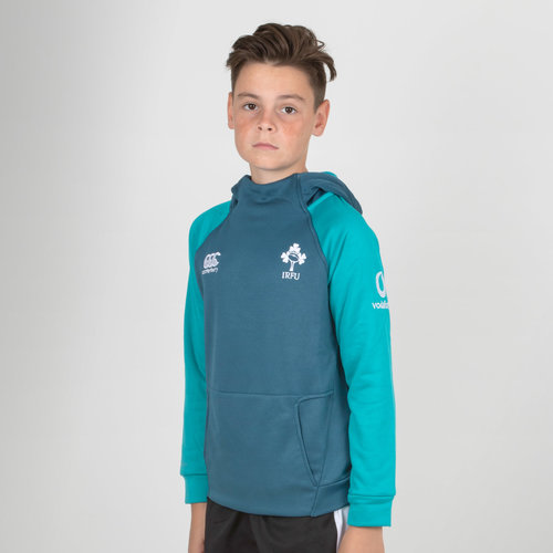 Ireland IRFU 2018/19 Kids Hybrid Hooded Rugby Sweat