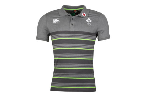 Ireland IRFU 2017/18 Cotton Stripe Rugby Polo Shirt