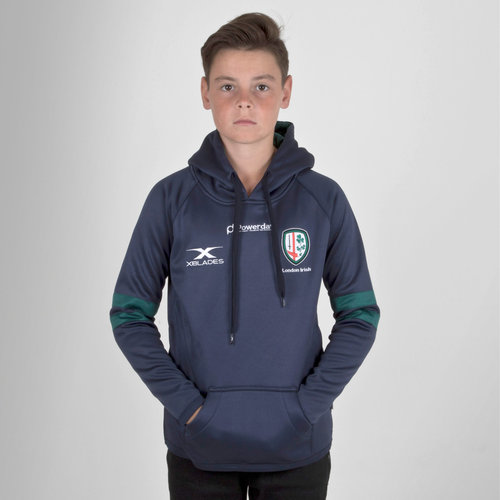 London Irish 2018/19 Kids Hooded Rugby Sweat