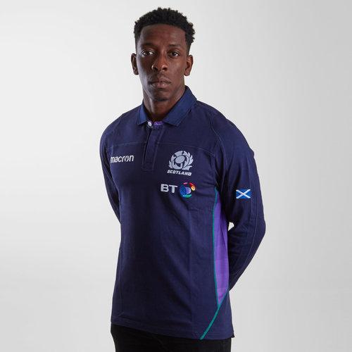 Scotland 2018/19 Home Cotton L/S Replica Rugby Shirt