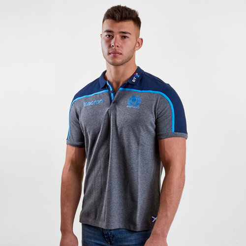 Scotland 2018/19 Players Travel Rugby Polo Shirt