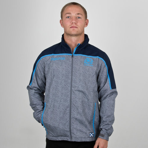 Scotland 2018/19 Players Full Zip Shower Rugby Jacket