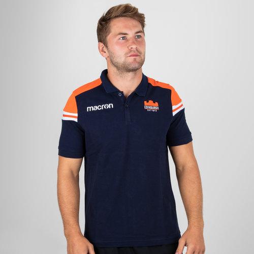 Edinburgh 2018/19 Players Travel Piquet Cotton Polo Shirt