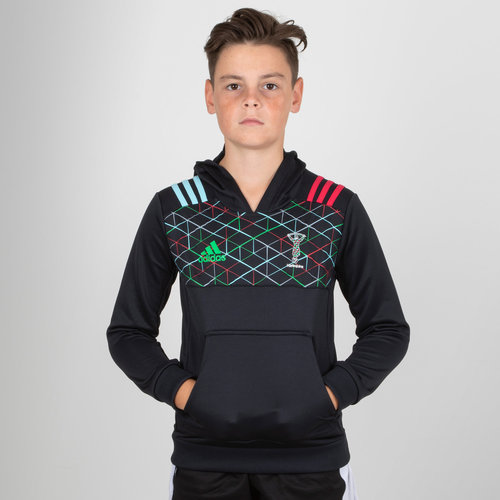Harlequins 2018/19 Kids Performance Hooded Rugby Sweat