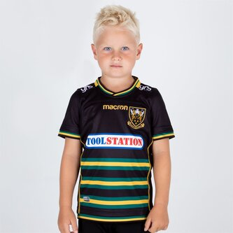 Northampton Saints 2018/19 Kids Home S/S Replica Rugby Shirt