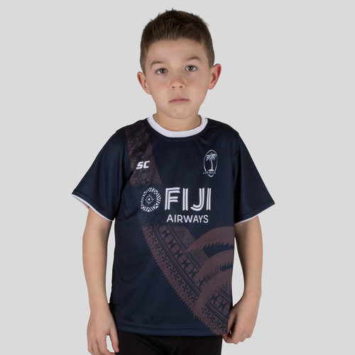 Fiji 7s 2018/19 Kids Rugby Training T-Shirt