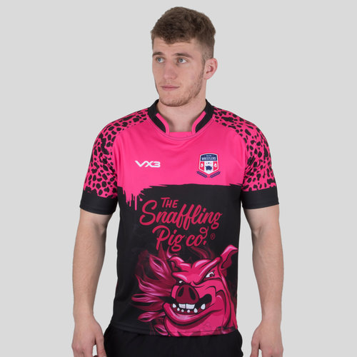 The Pig Wrestlers 2018/19 Home S/S Rugby Shirt