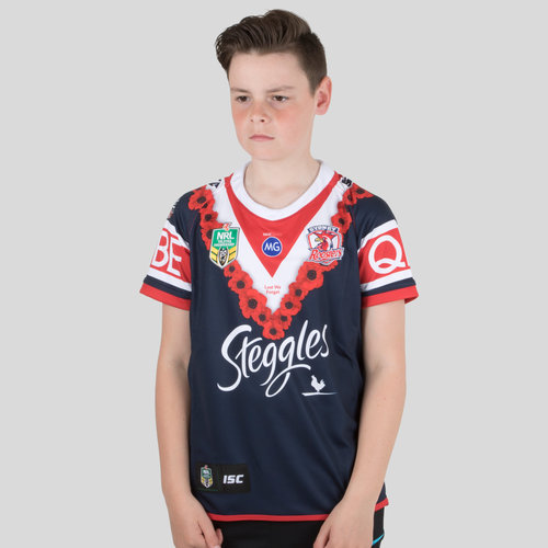 Sydney Roosters NRL 2018 Youth Anzac S/S Rugby Shirt