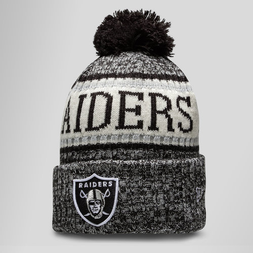 NFL Oakland Raiders Sideline Bobble Knit Hat
