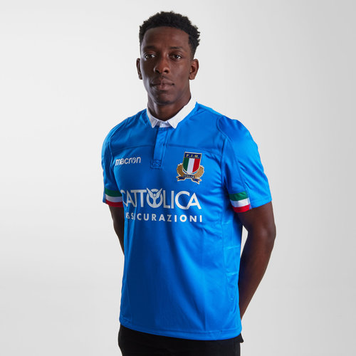 Italy 2018/19 Home S/S Replica Rugby Shirt
