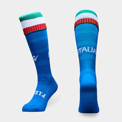 Italy 2018/19 Home Kids Match Rugby Socks