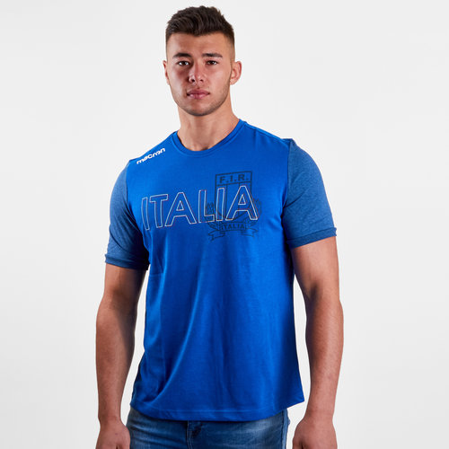 Italy 2018/19 Cotton Supporters Rugby T-Shirt