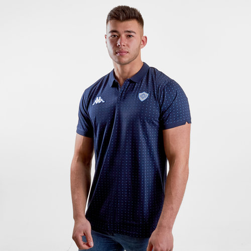 Castres Olympique 2018/19 Bianca Rugby Polo Shirt