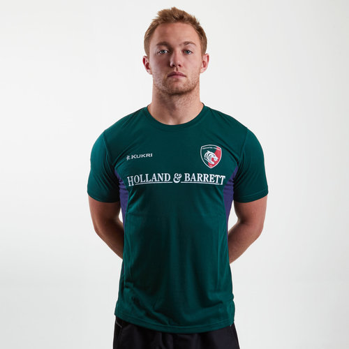 Leicester Tigers 2018/19 Players Match Day Rugby T-Shirt