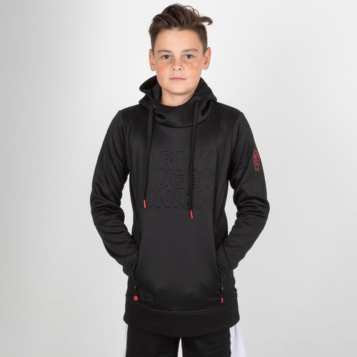 Army Rugby Union Kids Embossed Impact Hooded Rugby Sweat