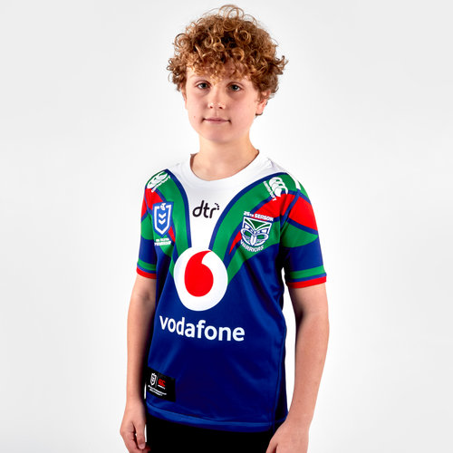 New Zealand Warriors NRL 2019 Kids Home S/S Rugby Shirt