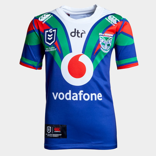 New Zealand Warriors NRL 2019 Youth Home S/S Rugby Shirt