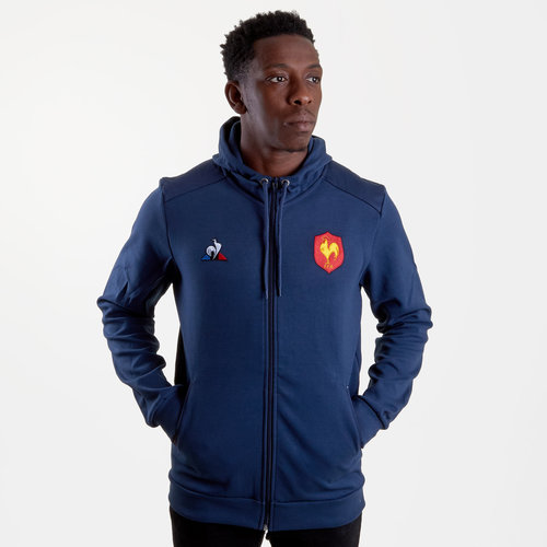 France 2018/19 Presentation Full Zip Hooded Rugby Sweat