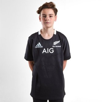 New Zealand All Blacks 2018/19 Home Youth S/S Rugby Shirt
