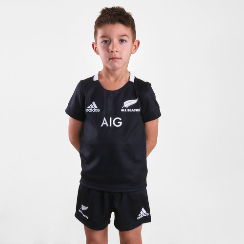 New Zealand All Blacks 2018/19 Home Mini Kids Replica Rugby Kit