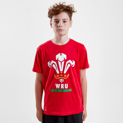Wales WRU 2018 Kids Off Field Logo Rugby T-Shirt