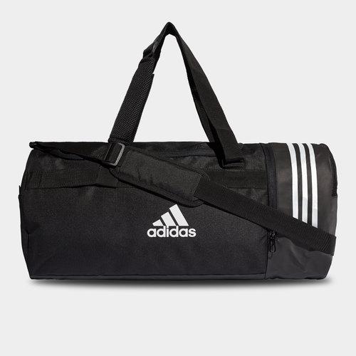 Convertible 3 Stripe Medium Duffel Bag