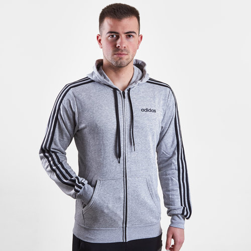 3 Stripe Full Zip French Terry Hoodie