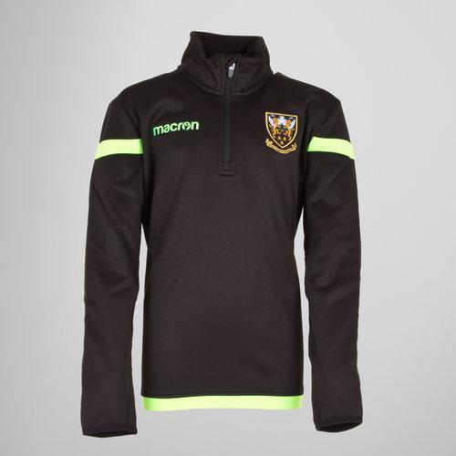 Northampton Saints 17/18 Kids 1/4 Zip Rugby Jacket
