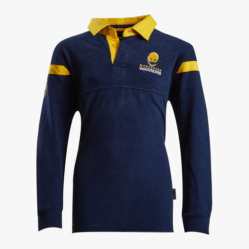 Worcester Warriors 16/17 Home Kids Cotton Rugby Shirt