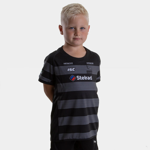 Newcastle Falcons 2018/19 Kids Home S/S Replica Rugby Shirt