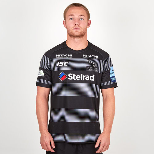Newcastle Falcons 2018/19 Home S/S Replica Rugby Shirt