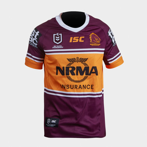 Brisbane Broncos NRL 2019 Youth Home S/S Rugby Shirt