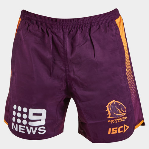 Brisbane Broncos NRL 2019 Youth Rugby Training Shorts