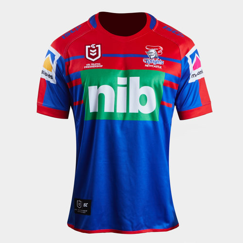 Newcastle Knights NRL 2019 Youth Home S/S Rugby Shirt