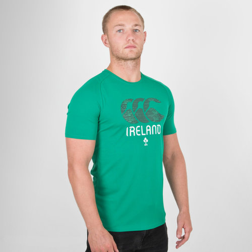 Ireland IRFU Graphic Poly Rugby T-Shirt