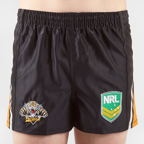 Wests Tigers NRL Kids Supporters Rugby Shorts