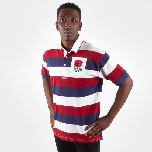 England 2019/20 Vintage S/S Stripe Polo Shirt