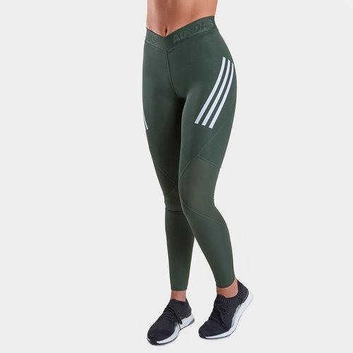 47e85b33a3530 adidas Alphaskin Sport Ladies 3 Stripes Long Tights. Legend Ivy