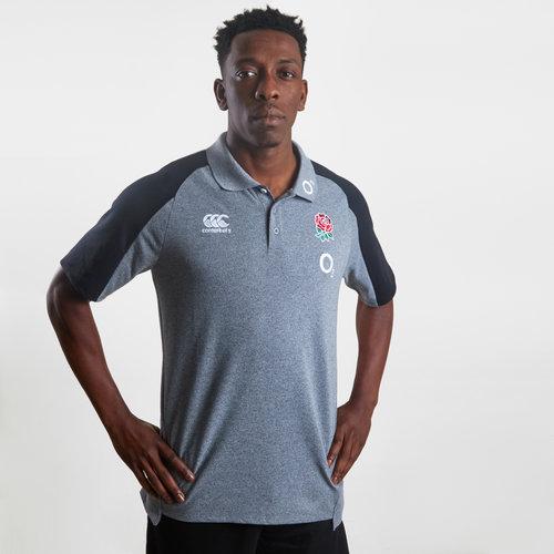 England 2019/20 Cotton Pique Polo Shirt