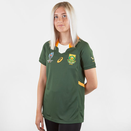 South Africa Springboks RWC 2019 Ladies Home S/S Replica Rugby Shirt
