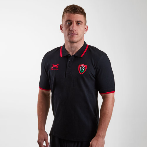 Toulon 2018/19 Stripe Pique Rugby Polo Shirt
