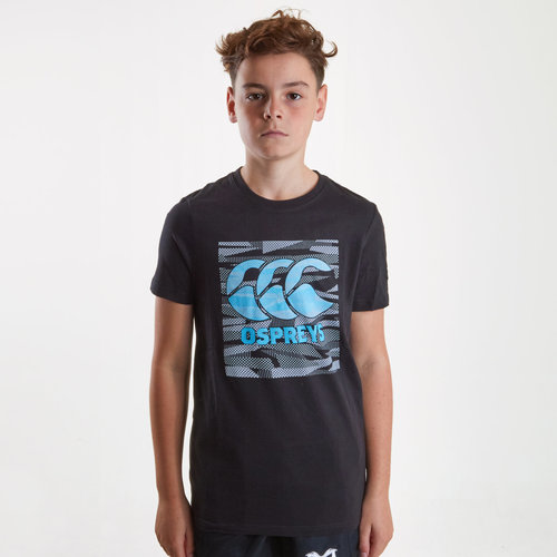 Ospreys 2018/19 Kids Plain Rugby T-Shirt