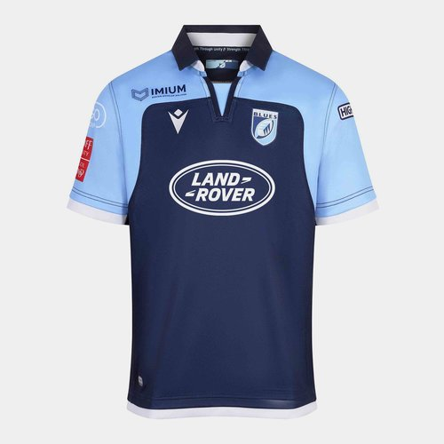 Cardiff Blues 2019/20 Kids Home S/S Replica Rugby Shirt